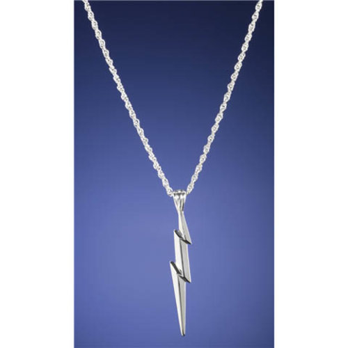 The Noble Collection The Lightning Bolt Sterling Silver Pendant