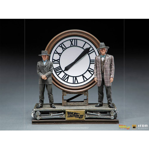Iron Studios Back to the Future 3: Deluxe Marty and Doc at the Clock 1:10 Scale Statue