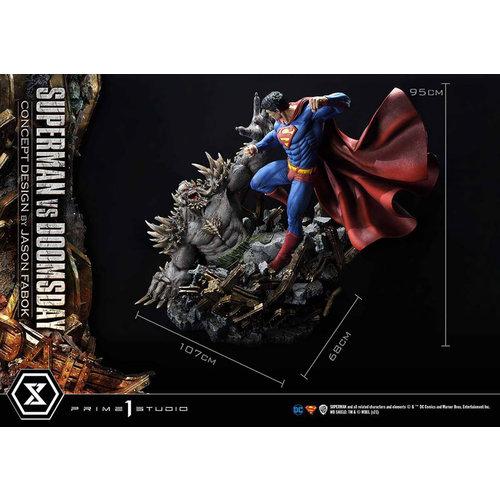 Prime 1 Studio DC Comics: Deluxe Superman vs Doomsday Concept Design 1:3 Scale Statue