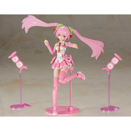 Kotobukiya Hatsune Miku Frame Music Girl Plastic Model Kit Sakura Miku 15 cm