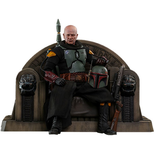 Hot toys Star Wars: The Mandalorian - Boba Fett Repaint Armor and Throne 1:6 Scale Figure Set