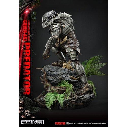 Prime 1 Studio Predator Comics: Deluxe Big Game Cover Art Predator Statue