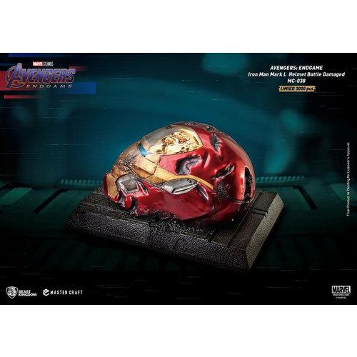 Beast Kingdom Marvel: Avengers Endgame - Master Craft Iron Man Mark 50 Battle Damaged Helmet Statue