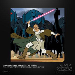 HASBRO Mace Windu Clone Wars Star Wars The Black Series Figure 15cm