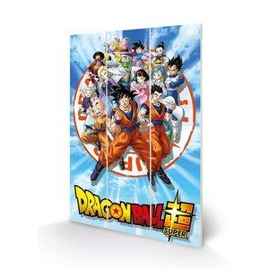 Pyramid International Dragon Ball Super - Goku And The Z Fighters Wood Print 20 X 29.5 cm ENG