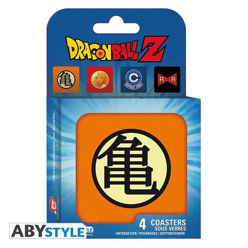 "Abstyle Dragon Ball - Set 4 Coasters ""Symbols"""