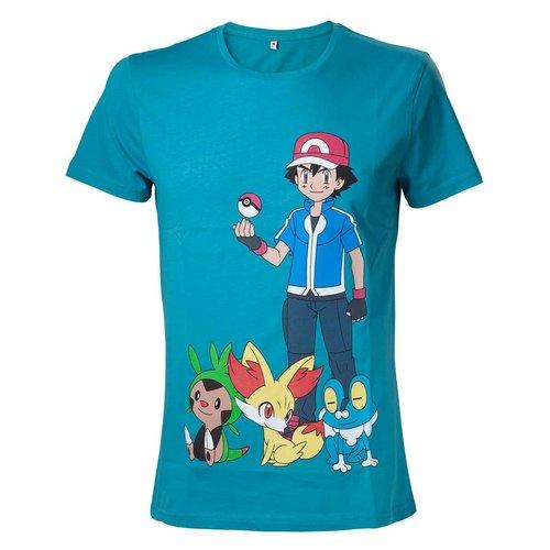 Bioworld Pokémon - Ash Ketchum Blue T-Shirt