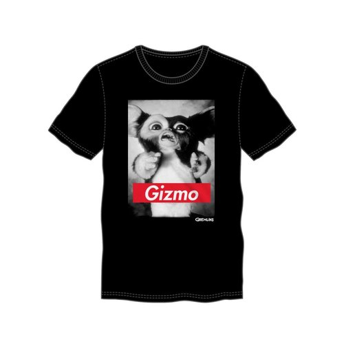 Bioworld Gremlins Gizmo Black Tee With Red Banner