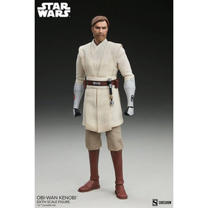Sideshow Toys Star Wars: The Clone Wars - Obi-Wan Kenobi 1:6 Scale Figure