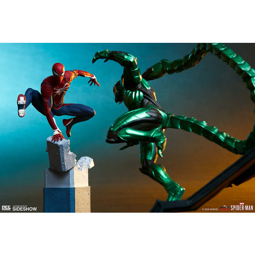 Pop Culture Shock Collectibles Marvel: Spider-Man Game - Spider-Man with Rhino and Scorpion 1:12 Scale Statue Set
