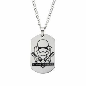 Star Wars Stormtrooper Laser Stainless Steel Dog Tag Pendant Necklace