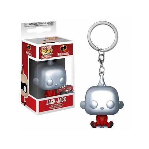 FUNKO Pop! Pocket Keychain Incredibles 2 Jack-Jack Metallic