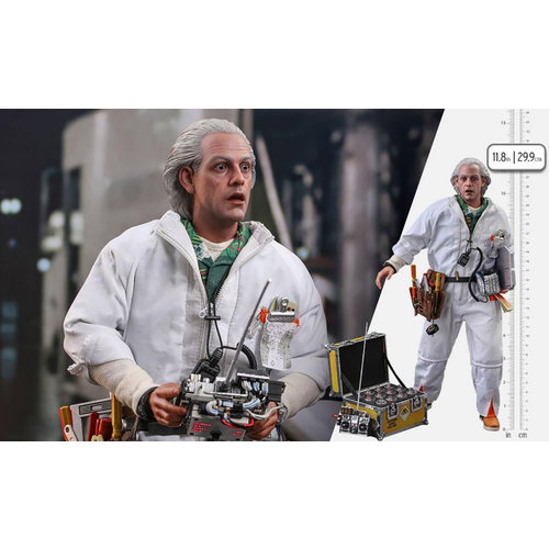 Hot toys Back to the Future: Deluxe Doc Brown 1:6 Scale Figure
