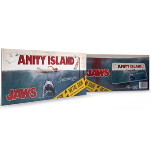doctor collector Jaws: Amity Island Metal Sign