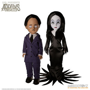 Mezcotoys Living Dead Dolls: The Addams Family 2019 - Gomez and Morticia Action Figure Set