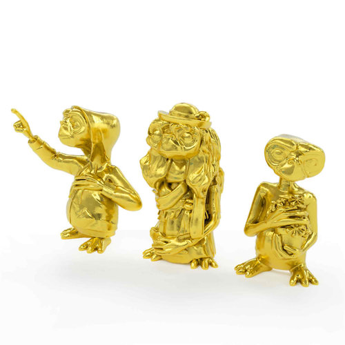 doctor collector E.T. The Extra-Terrestrial Collector's Set Mini Figures 3-Pack Golden Edition