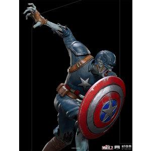 Iron Studios Marvel: What If - Zombie Captain America 1:10 Scale Statue