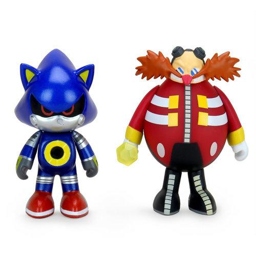 Kidrobot Sonic the Hedgehog: Metal Sonic and Dr. Robotnik 3 inch Vinyl Figure 2-Pack