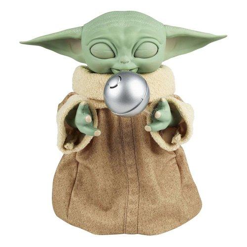 HASBRO Star Wars The Mandalorian Figurine Interactive Galactic Snackin´ Grogu (Baby Yoda)