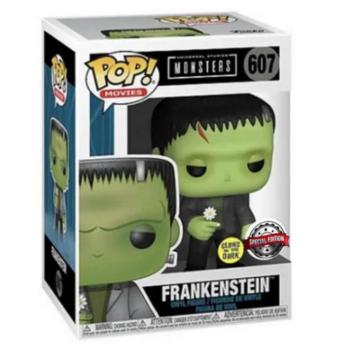 FUNKO Funko Pop! Movies: Monsters - Frankenstein (with Flower - Glow-in-the-dark) - US Exclusive
