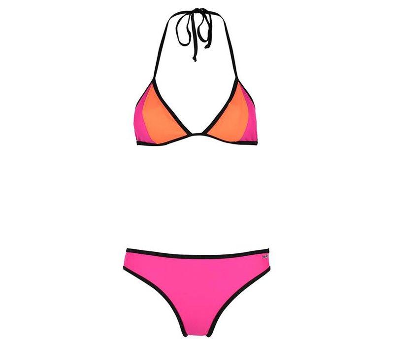 Bikini Triangle contrast pink glow