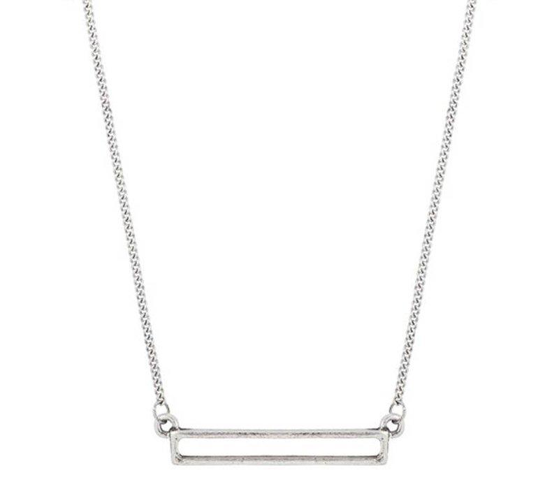 Necklace Open Bar silver