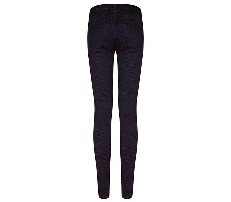 Pants Dot Jacquard black