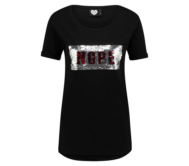 Tee Yes Nope black