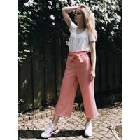 Pants Noto cream/red