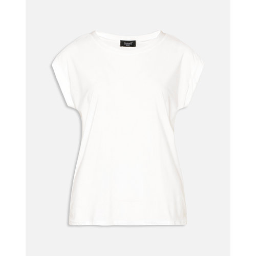 SISTERS POINT T-shirt LOW-a cream