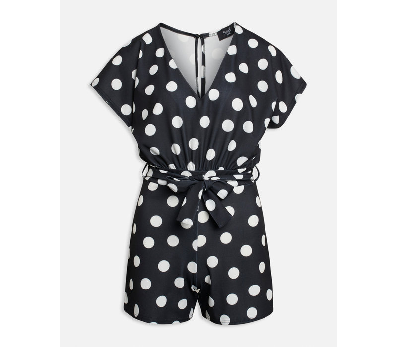 Jumpsuit/playsuit Girl - V play 1  Black_cream