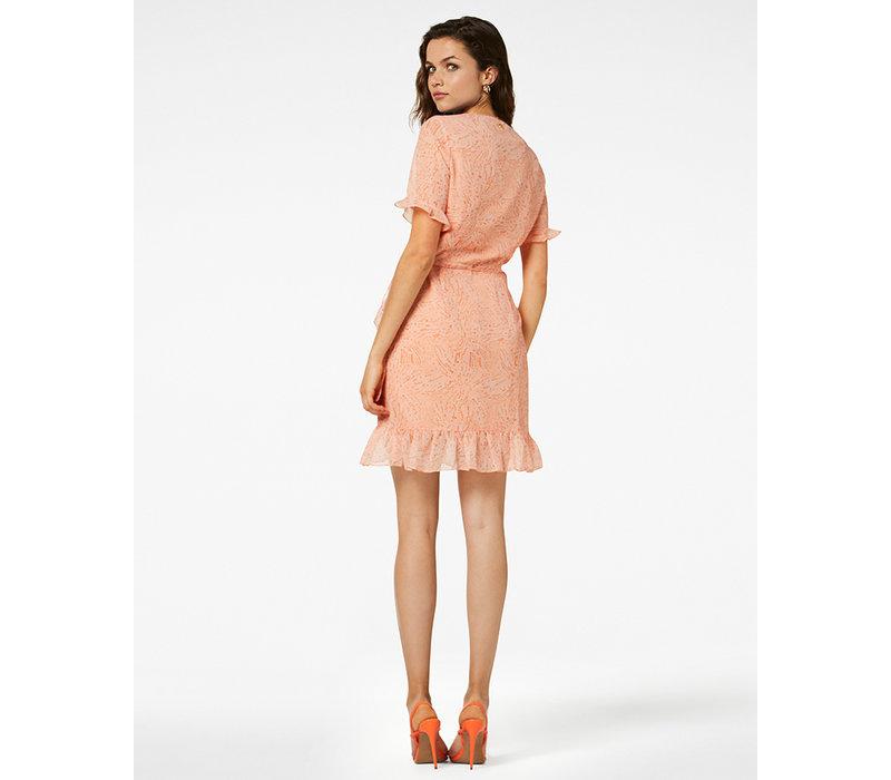 Jurk Rosy SS mini peach