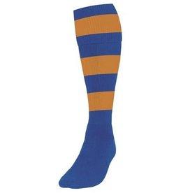 Striped Club Sock Royal/Amber UK 7/11