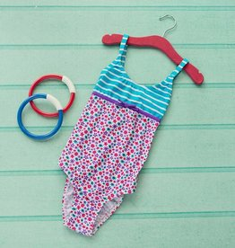 Girls Ditsy Print Swim Suit Floral