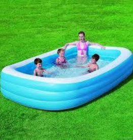 """Bestway 120"""" Deluxe Rectangular Family Pool"""