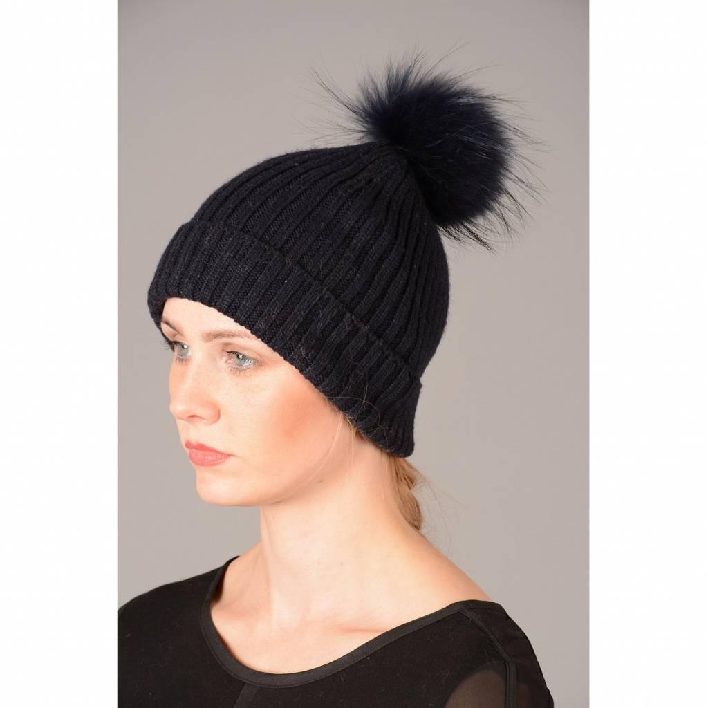 a8cbddf445c296 Jay Ley Ladies Wool & Fox Pompom Hat - Premium Force