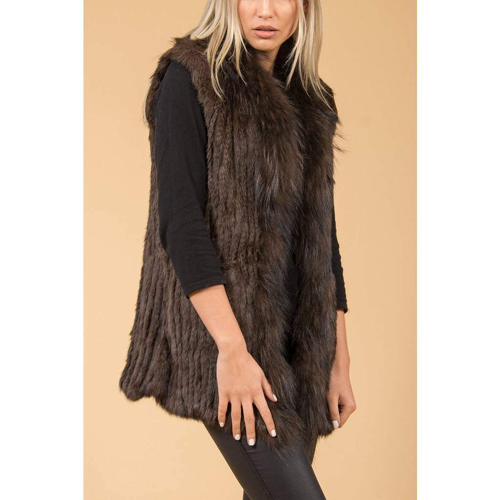 26c84a1a948b99 Jay Ley Jay Ley Fox & Coney Fur Long Gilet - Premium Force