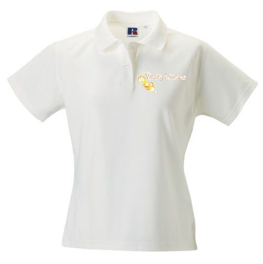Vitality Therapy Womens Polo White