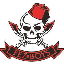 Fez Boys Internal Window Sticker 80mm