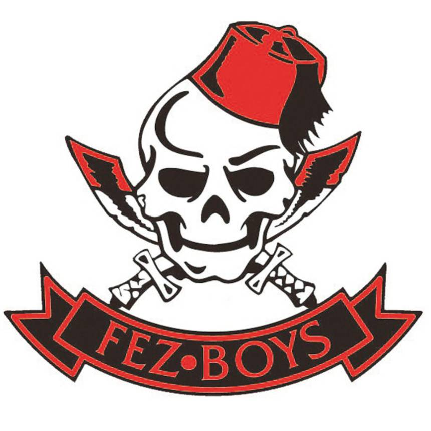 Fez Boys Internal Window Sticker 80mm