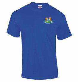 Premium Force Mead Farm Nursery Adults T Shirt Royal