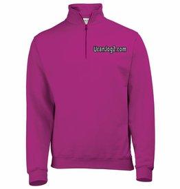 UCANJOG Adults 1/4 Zip Sweatshirt Hot Pink