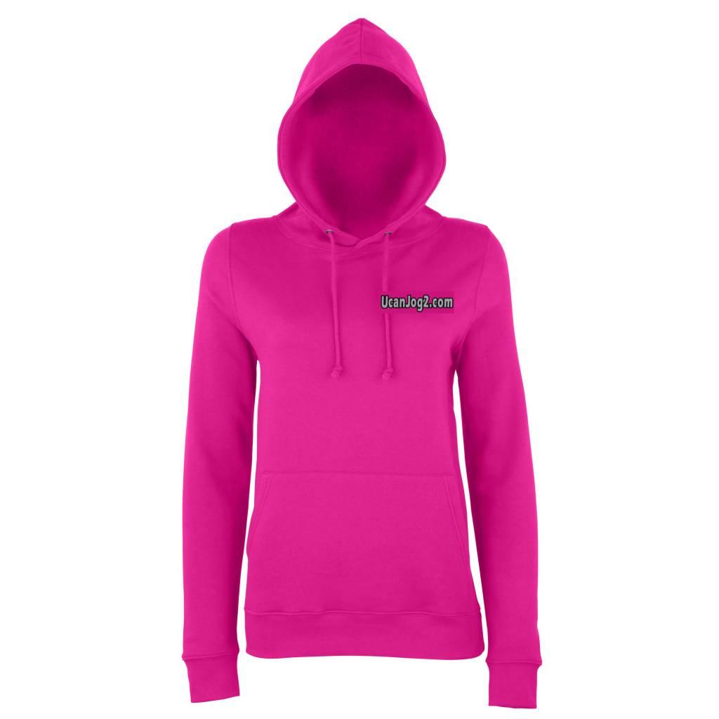 Premium Force UCANJOG Girlie Hoodie Hot Pink