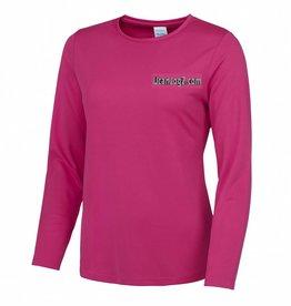 UCANJOG Girlie L/S Cool Tee Hot Pink