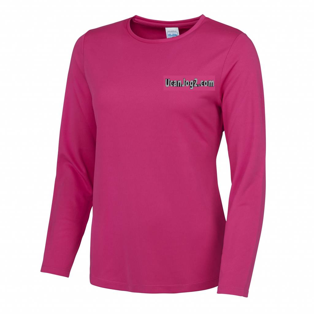 UCANJOG Girlie L/S Cool Tee Hot Pink