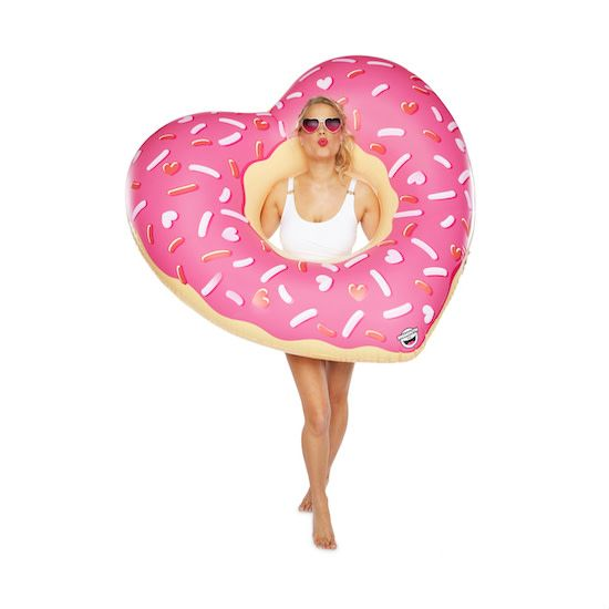 Big Mouth Inc Giant Heart Donut Pool Float