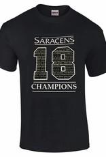 Saracens 18 Logo Champions T Shirt
