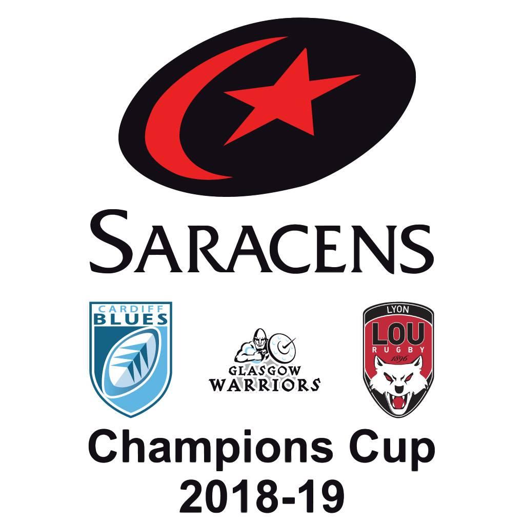 Saracens Champions Cup 2018/19 Hoodie