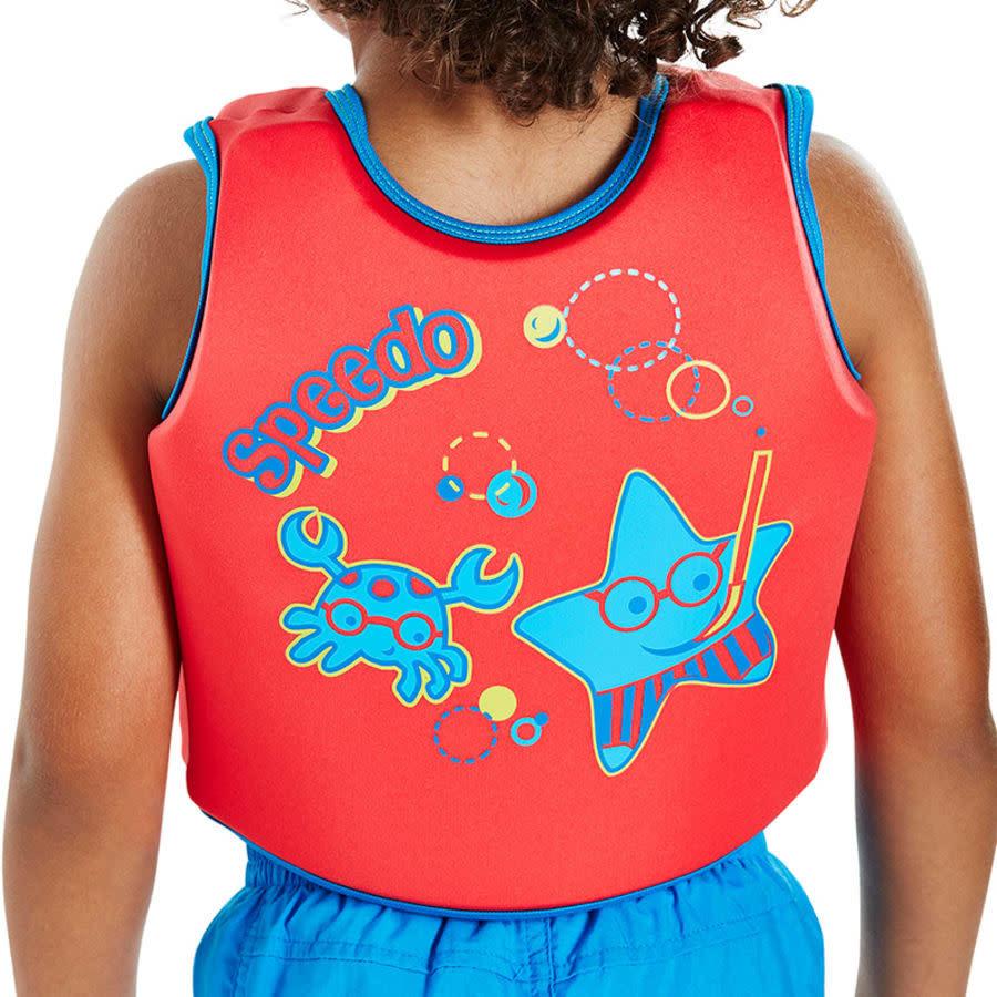 Speedo Sea Squad Swim Vest Red/Blue Age 2/4