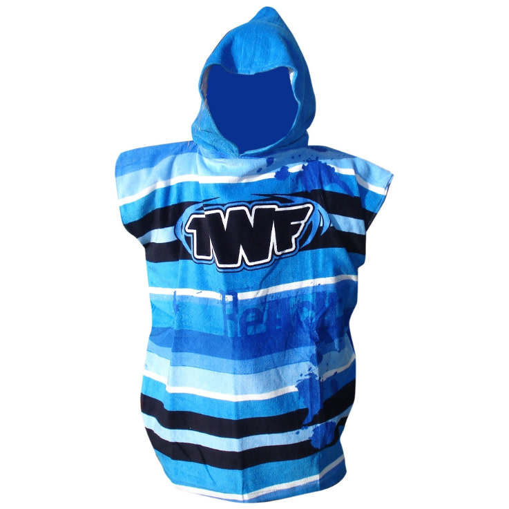 Boys Hooded Towel Robe Blue